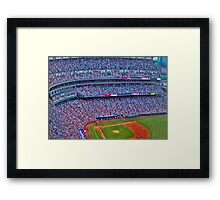 Coors Field Record Smash Framed Print