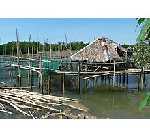 House on Bamboo Stilts Photographic Print