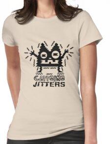 caffeine jitters - cat Womens Fitted T-Shirt