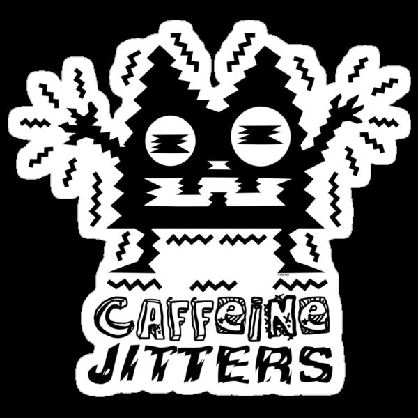 caffeine jitters - cat by Andi Bird