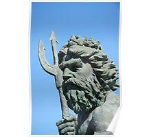 King Neptune statue2 Va.Beach Poster