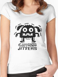 caffeine jitters - dog Women's Fitted Scoop T-Shirt