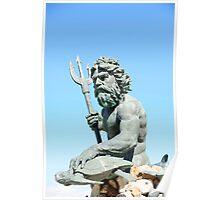 King neptune Statue2 Poster