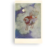 Stories from the Arabian Nights - 1907 - Edmund Dulac - 0145 - Flying Horse Canvas Print