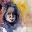 Self Portrait (Watercolor) by Acey Thompson
