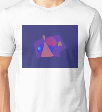 Navy Blue Serious Face Abstract Painting Unisex T-Shirt