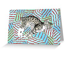Dream Of The Cairo Cat Greeting Card