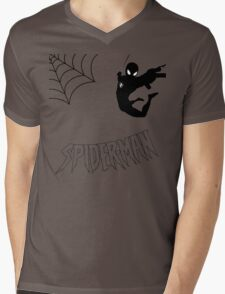 Swinging Spider Mens V-Neck T-Shirt