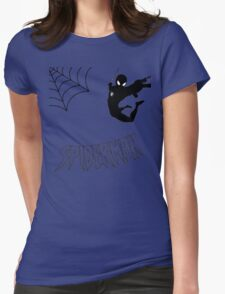 Swinging Spider Womens Fitted T-Shirt