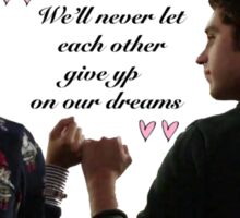 Brandon & Callie promise Sticker