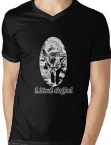 Coffee Fox! Mens V-Neck T-Shirt