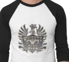 Whiskey Girl Shield Men's Baseball ¾ T-Shirt