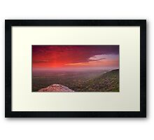 Intaba Inkosi; The Mountain of the King Framed Print
