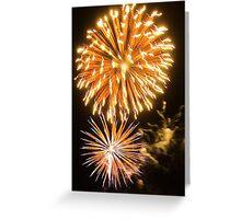 Light Burst - bursting fireworks at Carols by the Bay Greeting Card