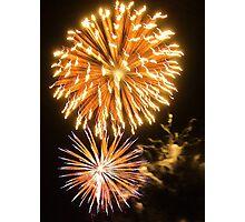 Light Burst - bursting fireworks at Carols by the Bay Photographic Print