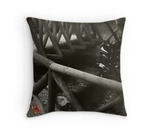 Flower In The Gloom Throw Pillow