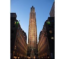 30 Rock at Christmas Photographic Print
