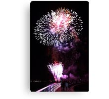 Fireworks on the Bay-Geelong Vic Au Canvas Print