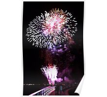 Fireworks on the Bay-Geelong Vic Au Poster
