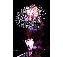 Fireworks on the Bay-Geelong Vic Au Photographic Print