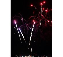 Sky Rockets-fireworks at Geelong Vic Au Photographic Print
