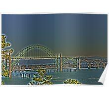 Newport Bay Bridge Poster