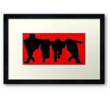 Big Time Rush Silhouette Framed Print