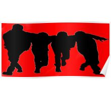 Big Time Rush Silhouette Poster