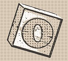 Child's Wood Block Pop Art Letter O by Anthony Ross