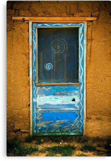 Taos Pueblo Screen Door by doorfrontphotos