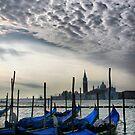 Gondolas on the Lagoon by Robyn Lakeman