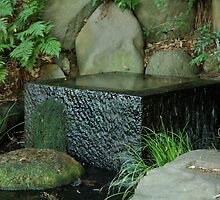 Water feature in the Imperial Palace Gardens by Mark Prior