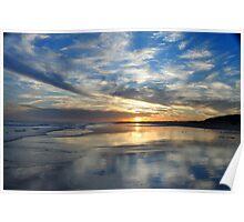 Redhead Beach Sunset Poster
