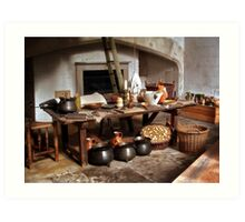 Tudor Table Art Print