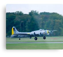 B-17 Bomber Take Off Metal Print