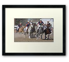 Close Competition Framed Print