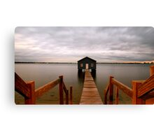 Crawley Boat Shed Canvas Print