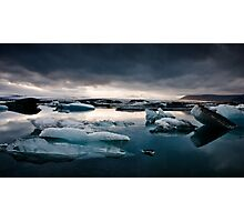 Glacier Lagoon August 2009 #2c Photographic Print