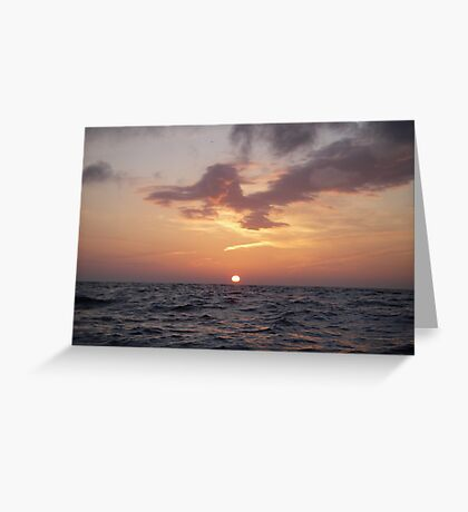 Sunset on the water Greeting Card