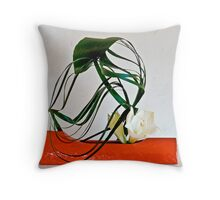 Ikebana-096 Throw Pillow