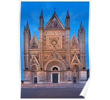 Ornate Cathedral at dusk Poster