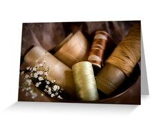 Antique Sewing Thread Greeting Card