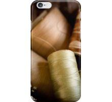 Antique Sewing Thread iPhone Case/Skin