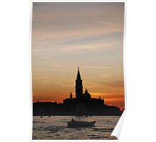 Venice at Sunset Poster
