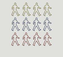 Sprayed Painted People Walking  Unisex T-Shirt
