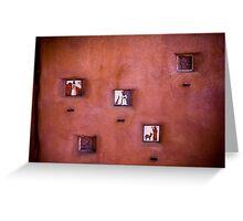 Wall of Saints Greeting Card