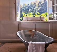 Antique tin bath by Mario Curcio