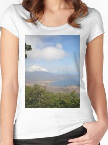 a historic Gabon landscape Women's Fitted Scoop T-Shirt