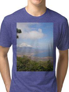 a historic Gabon landscape Tri-blend T-Shirt