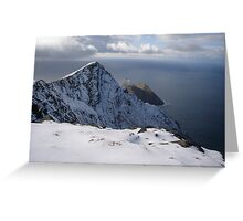 Snow on Achill Island Greeting Card